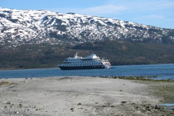 Chile Patagonia - Australis view ship