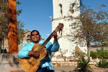 Chile San Pedro Atacama - Musician woman