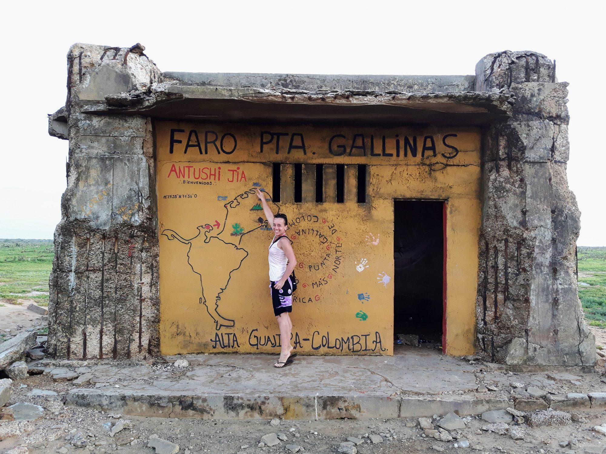 Colombia La Guajira - Faro Punta Gallinas