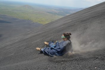 Nicaragua Cerro Negro Volcano Boarding