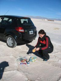 Argentinië Salinas Grandes - picknick