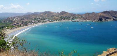 Nicaragua - San Juan del Sur - uitzicht baai