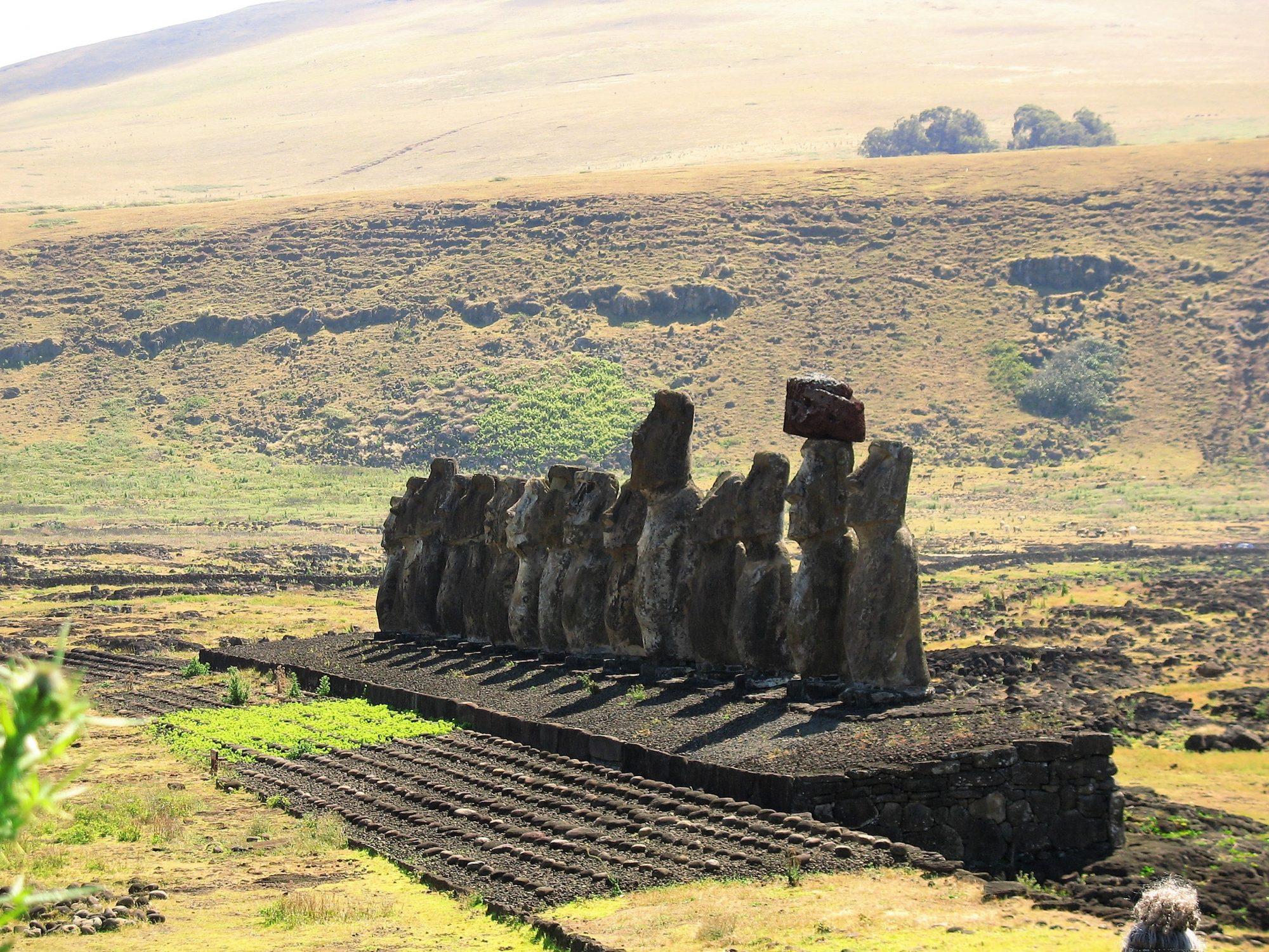 Chile - Rapa Nui.Ahu Tongariki