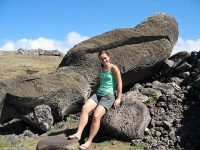 Chile - Rapa Nui.Ranu Raraku